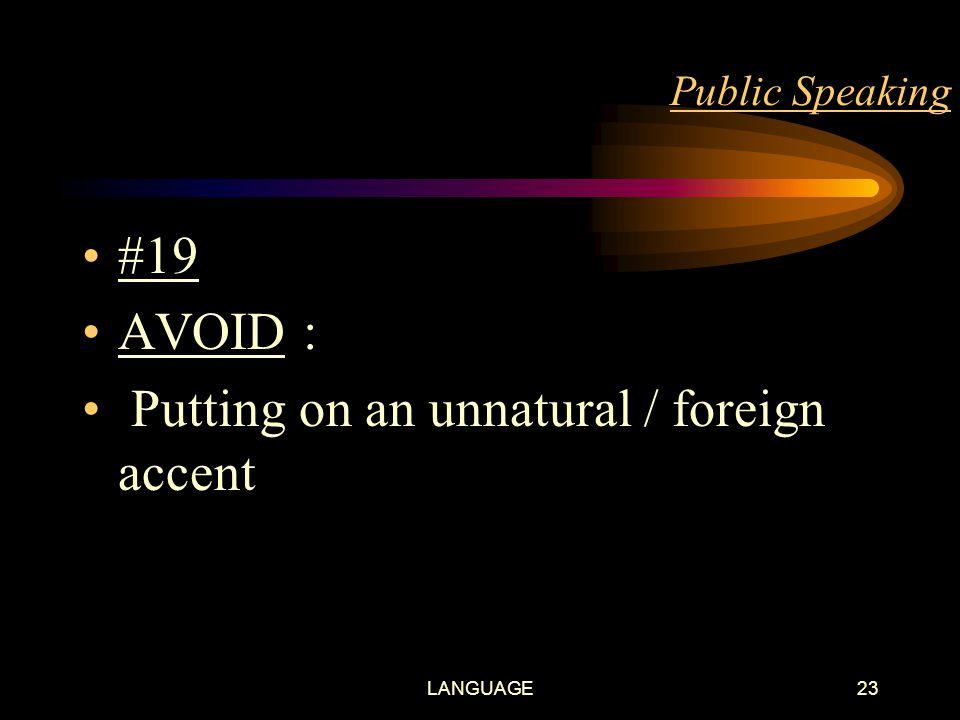 LANGUAGE22 Public Speaking #18 SPEAK fluently