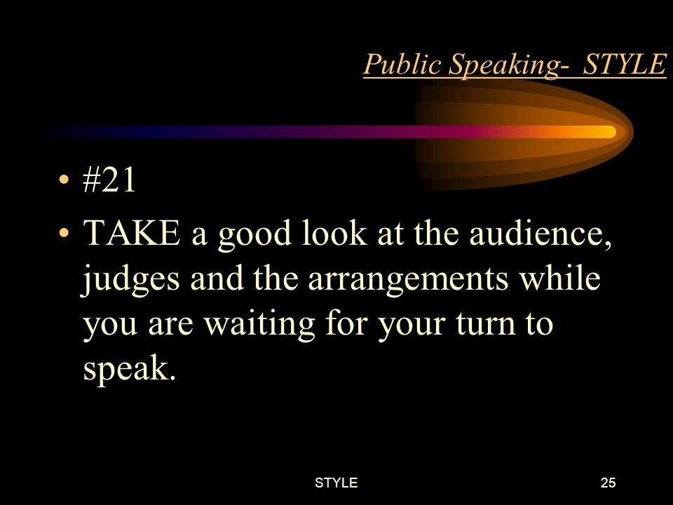 LANGUAGE24 Public Speaking #20 AVOID : Use of big words to show off jargon, slang & cliches