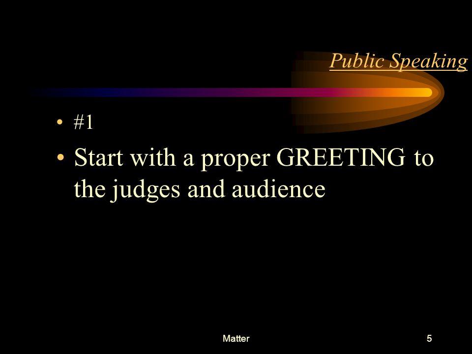 INTRODUCTION4 Public Speaking Matter Language Style