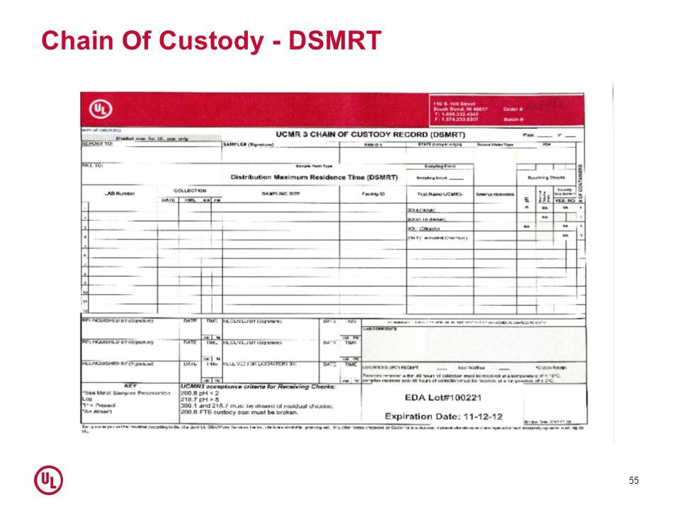 Chain Of Custody - DSMRT 55