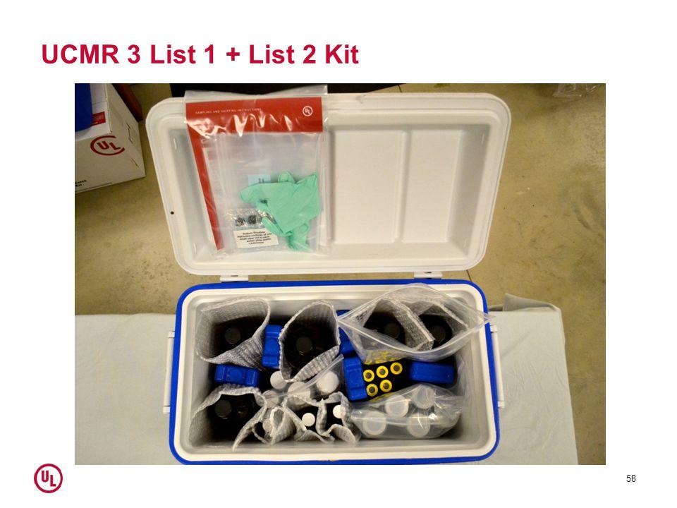 UCMR 3 List 1 + List 2 Kit 58