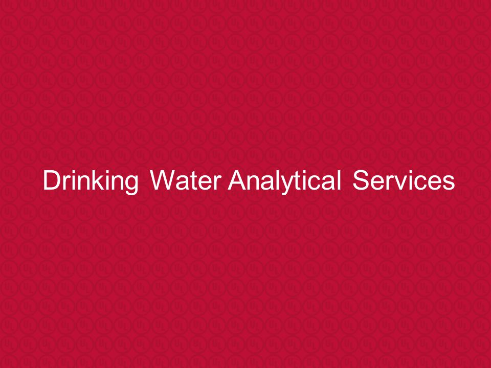 Drinking Water Analytical Services
