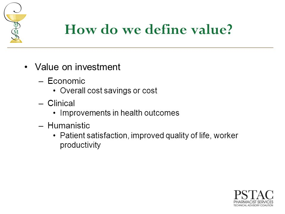 How do we define value.