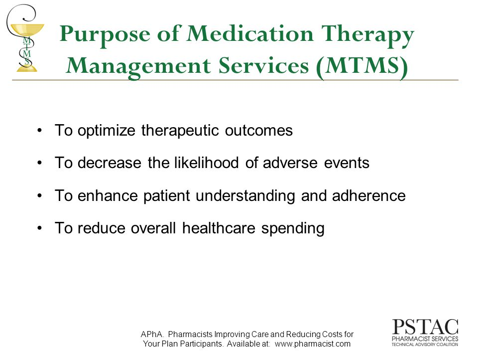 Key Findings: Minnesota Experience Project Economic benefit –A 12:1 return on investment was seen –Savings was seen in facilities costs –Per person per year costs decreased from $11,965 to $8,197 Clinical benefit –The MTM intervention group had a higher percentage of patients meeting HEDIS goals for hypertension and dyslipidemia Isetts, et al., J Am Pharm Assoc.