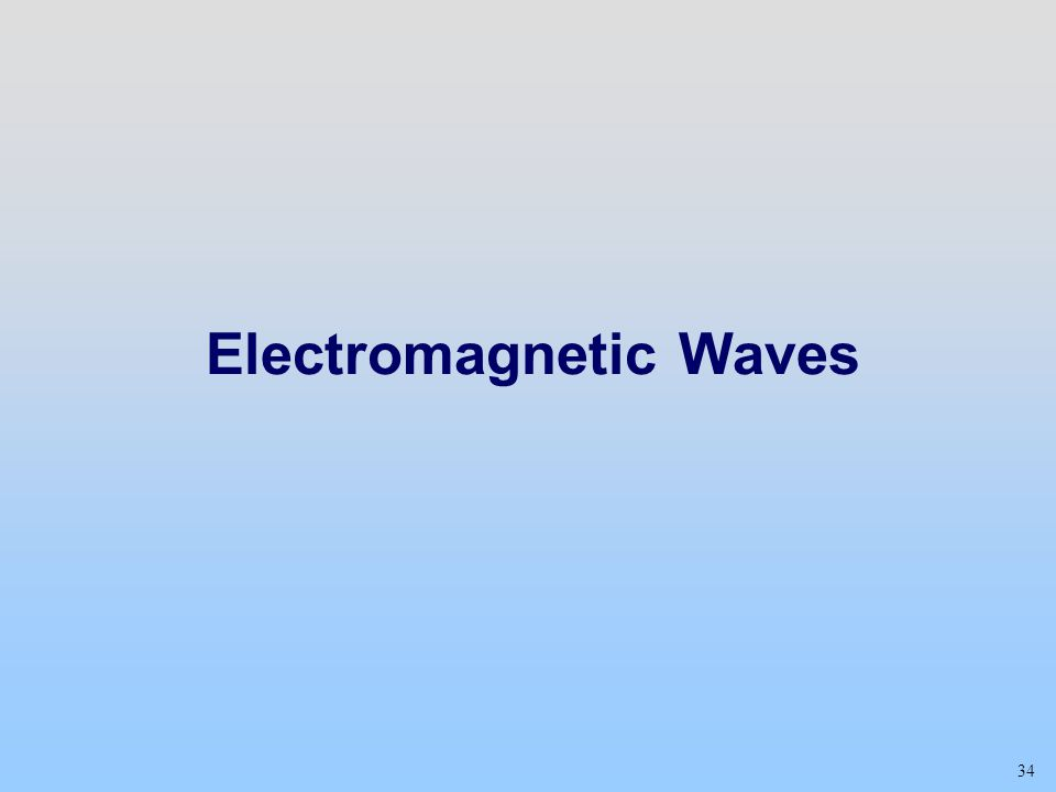 34 Electromagnetic Waves