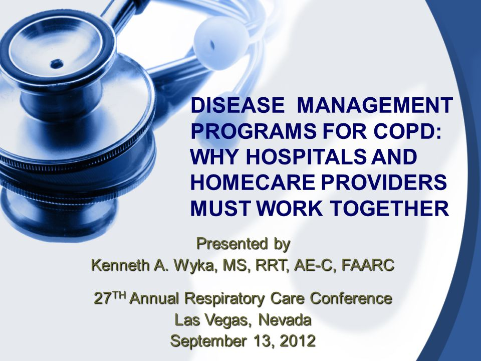 ENROLLMENT  Patient's with COPD diagnosis can be enrolled in program once provider's Rx is received at time of hospital discharge  Patient's may be enrolled at time of set-up for home oxygen, aerosol therapy or any other home care equipment  Patient's may be enrolled at time of RT follow-up if deemed appropriate on assessment