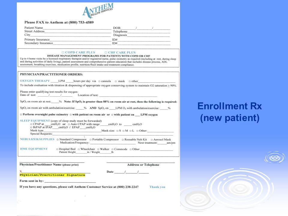 Enrollment Rx (new patient)