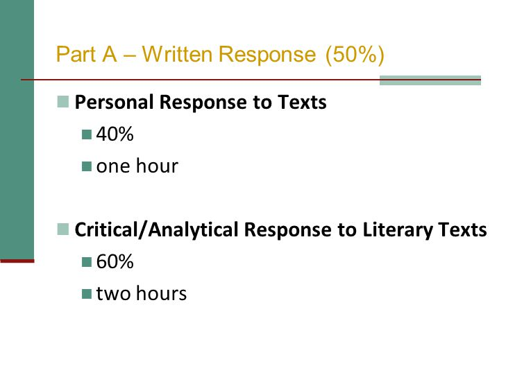 Personal Response to Texts ASSIGNMENT What do these texts suggest about...