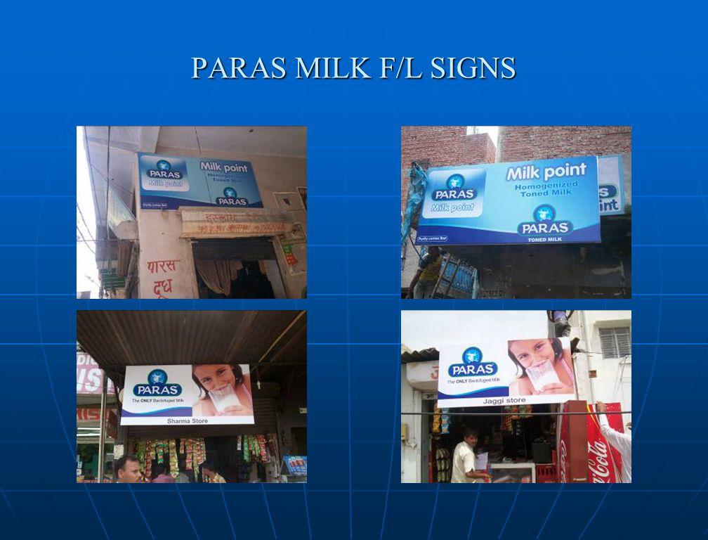 PARAS MILK F/L SIGNS