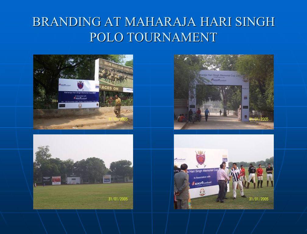 BRANDING AT MAHARAJA HARI SINGH POLO TOURNAMENT