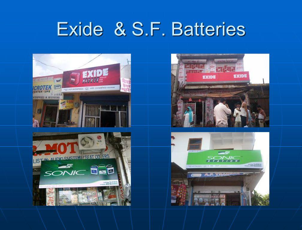 Exide & S.F. Batteries
