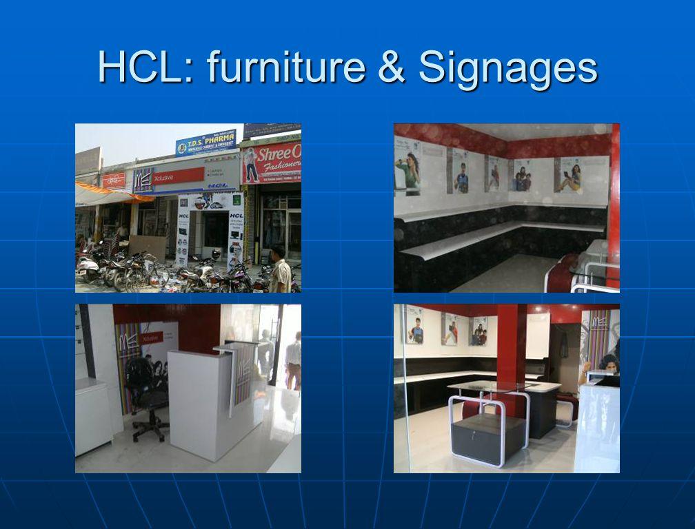 HCL: furniture & Signages