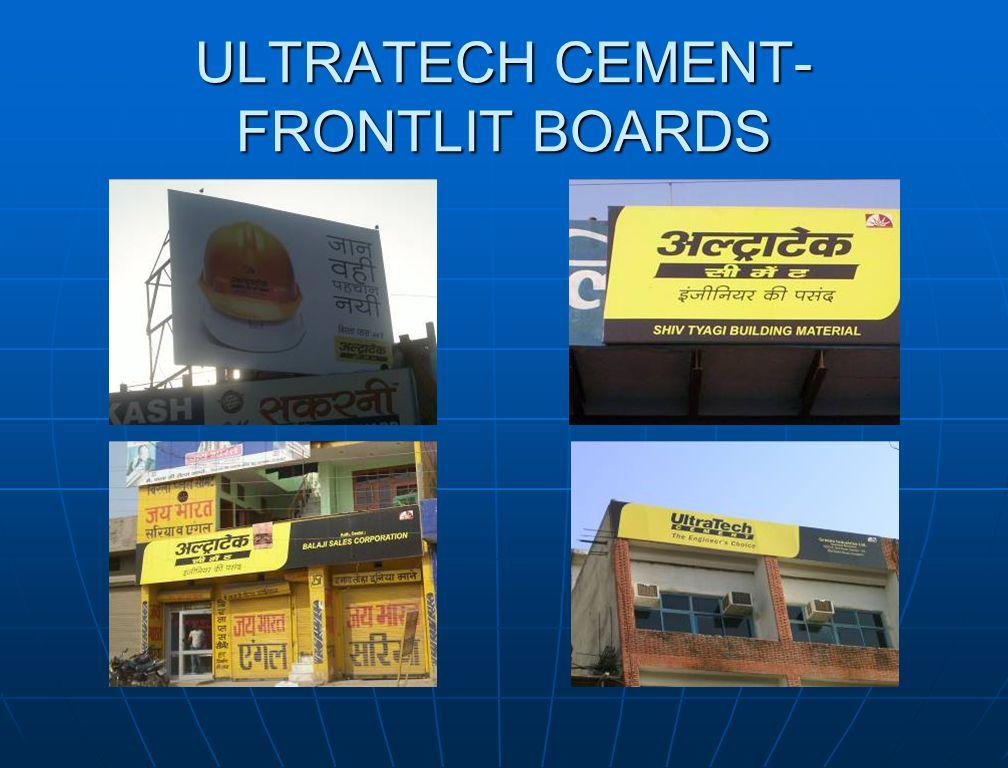 ULTRATECH CEMENT- FRONTLIT BOARDS