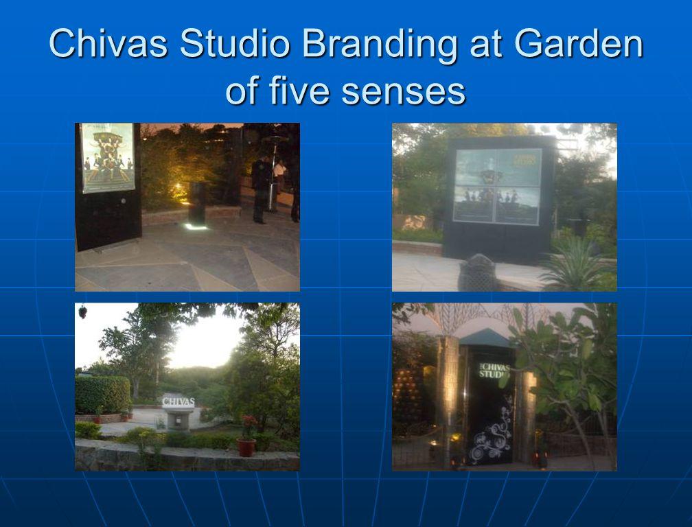 Chivas Studio Branding at Garden of five senses