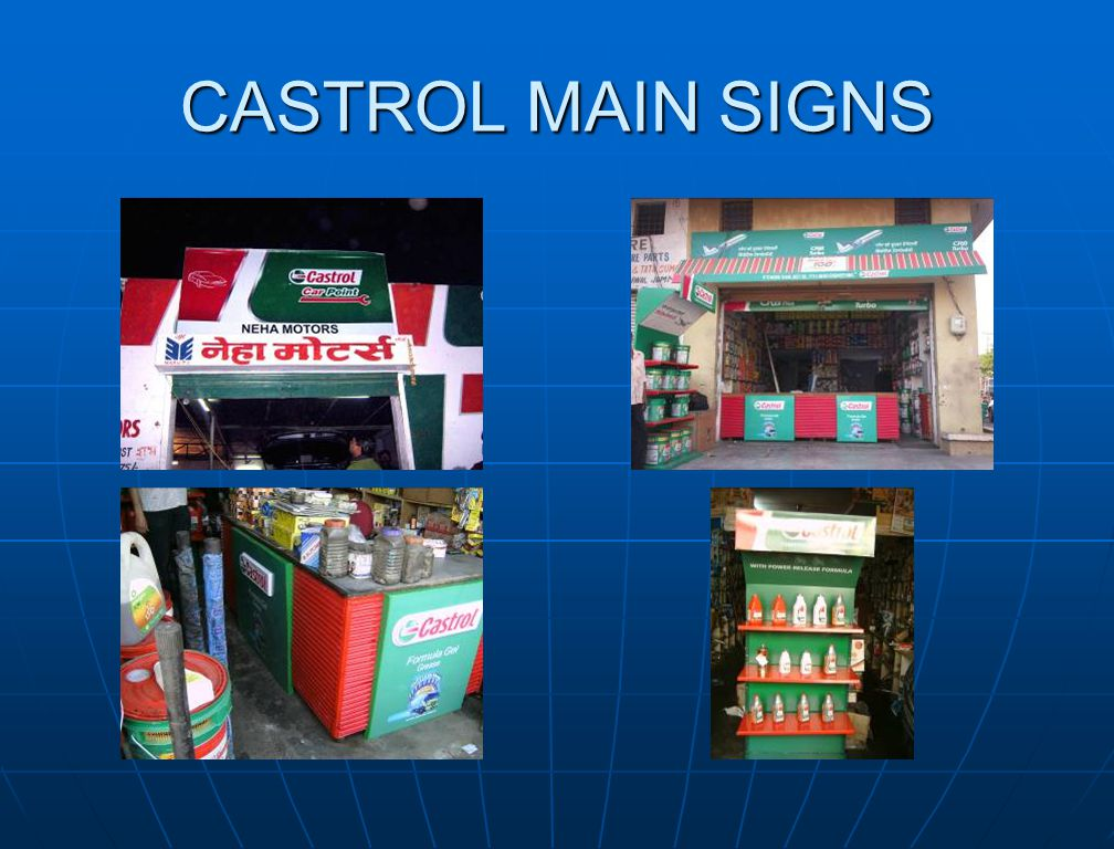 CASTROL MAIN SIGNS