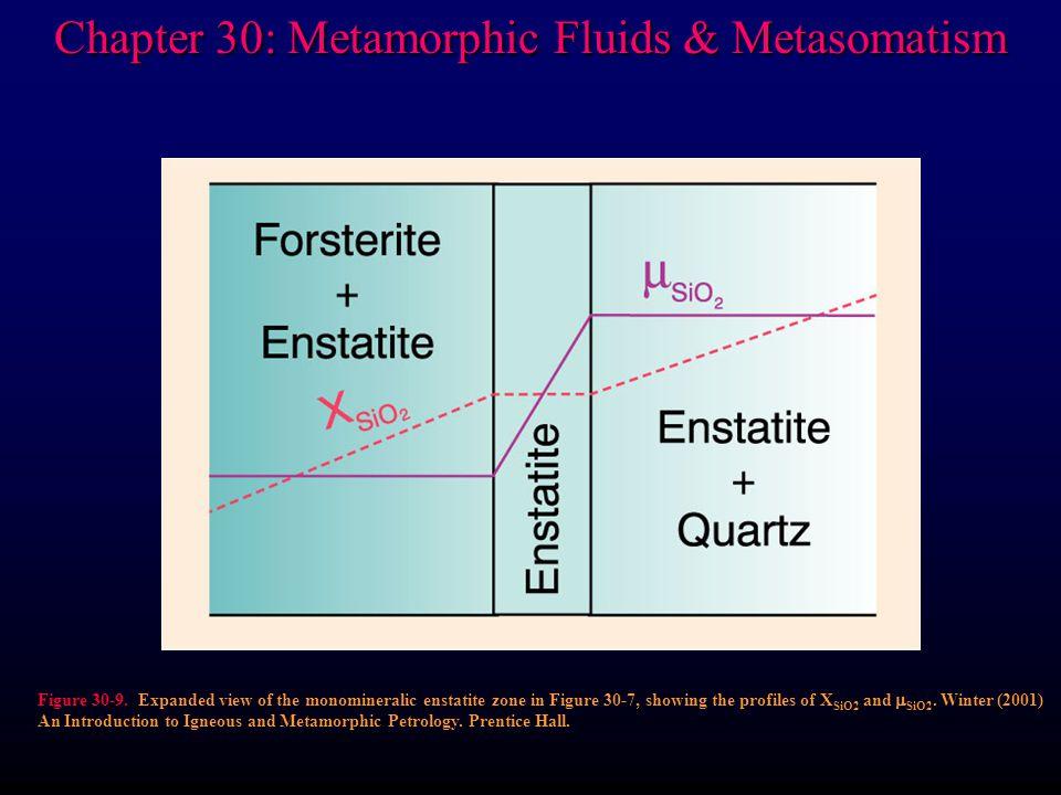 Chapter 30: Metamorphic Fluids & Metasomatism Figure 30-9.