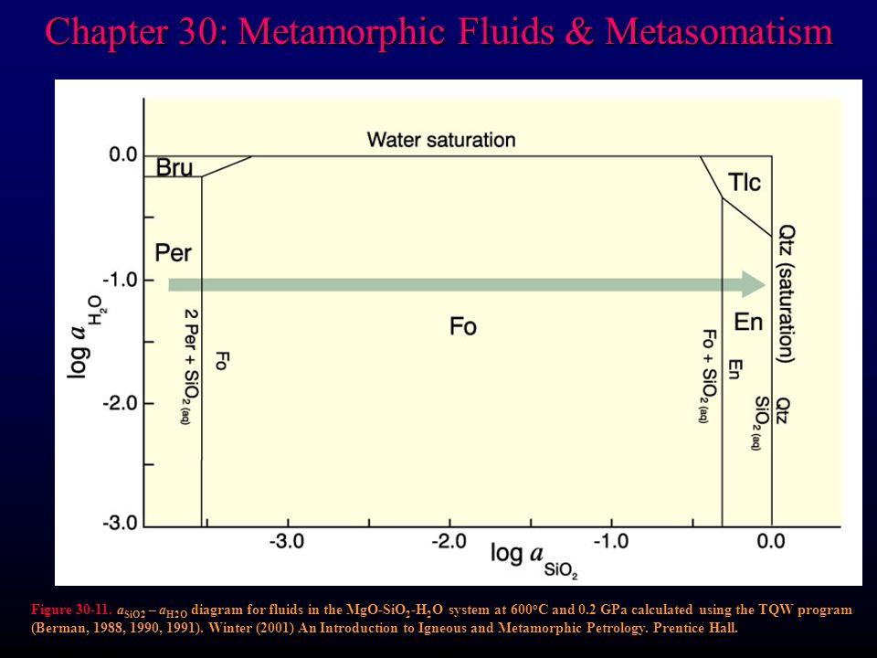 Chapter 30: Metamorphic Fluids & Metasomatism Figure 30-11.