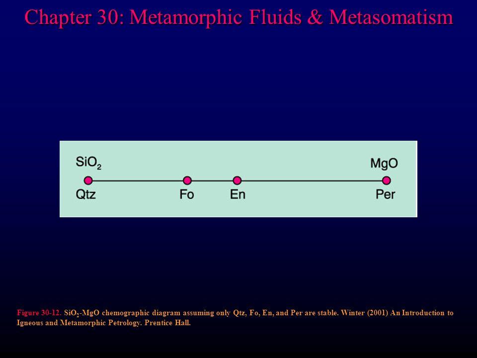 Chapter 30: Metamorphic Fluids & Metasomatism Figure 30-12.