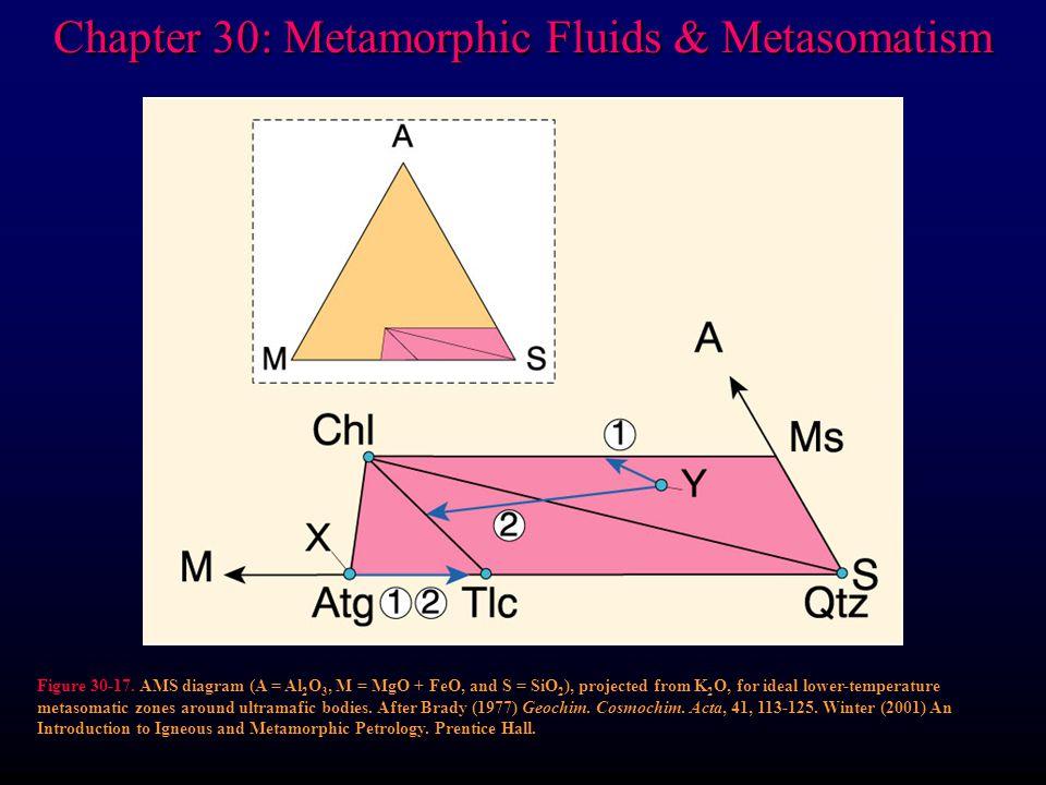 Chapter 30: Metamorphic Fluids & Metasomatism Figure 30-17.