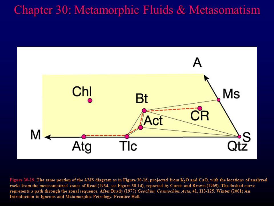 Chapter 30: Metamorphic Fluids & Metasomatism Figure 30-19.