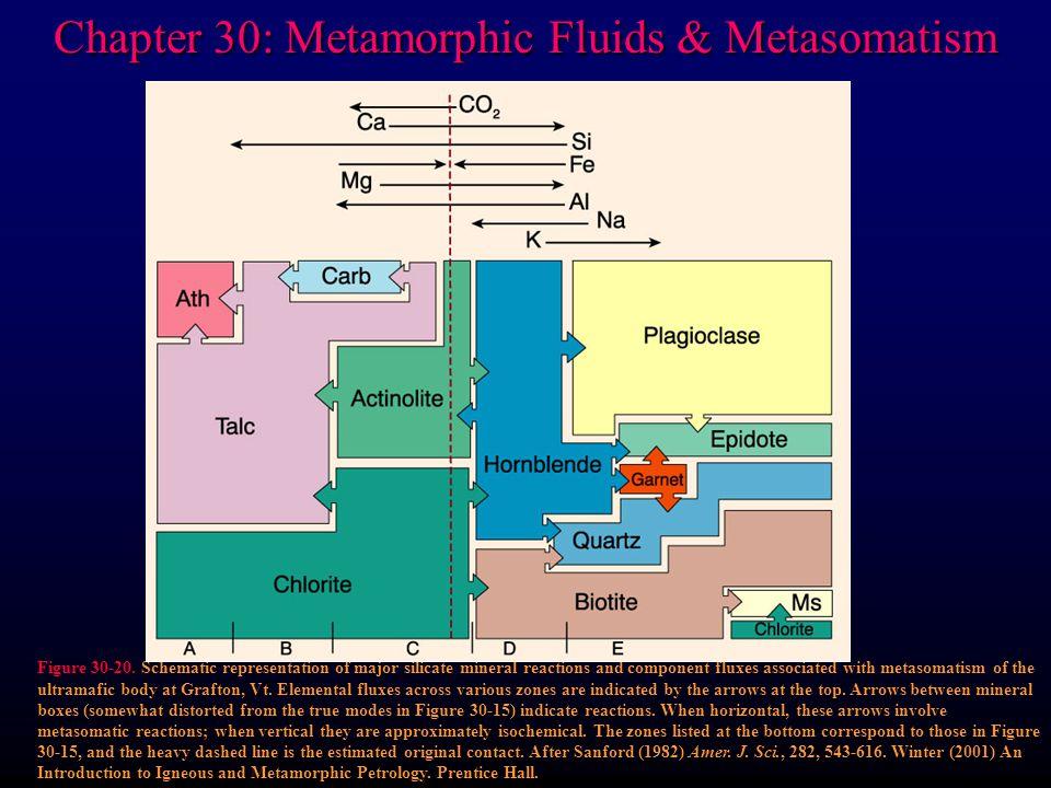 Chapter 30: Metamorphic Fluids & Metasomatism Figure 30-20.