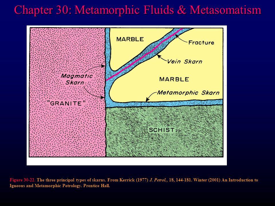 Chapter 30: Metamorphic Fluids & Metasomatism Figure 30-22.