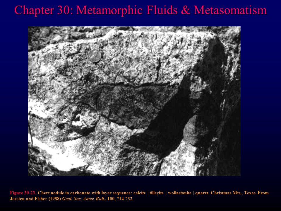 Chapter 30: Metamorphic Fluids & Metasomatism Figure 30-23.