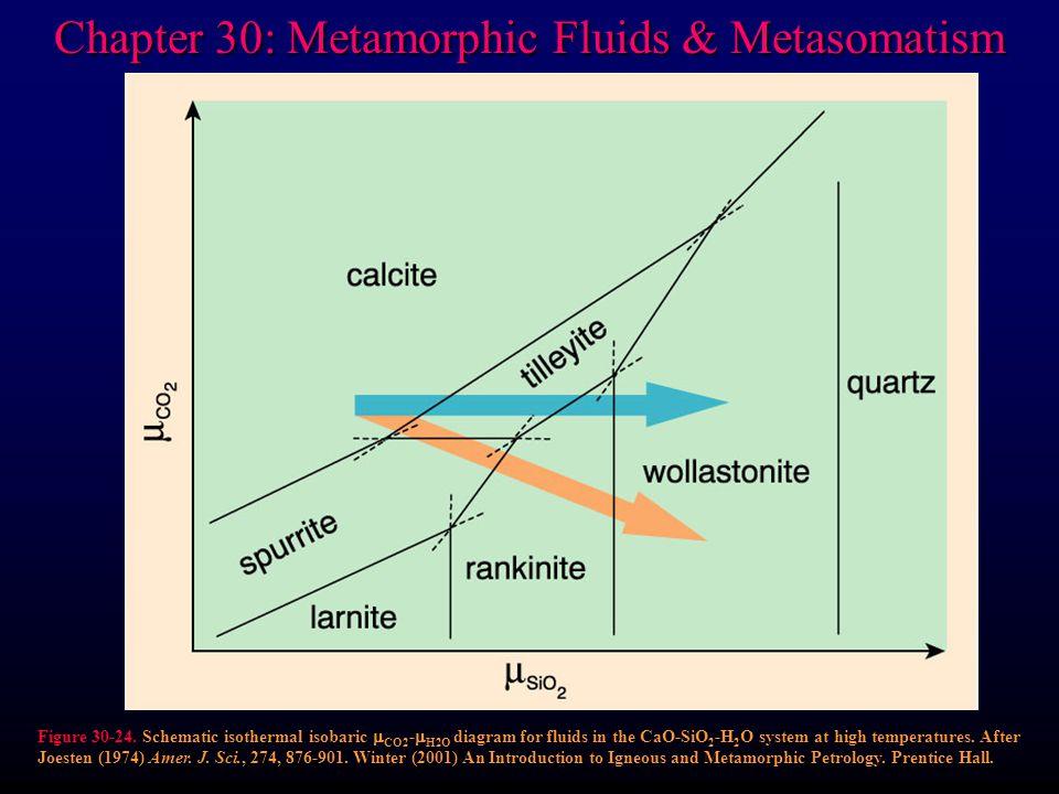Chapter 30: Metamorphic Fluids & Metasomatism Figure 30-24.