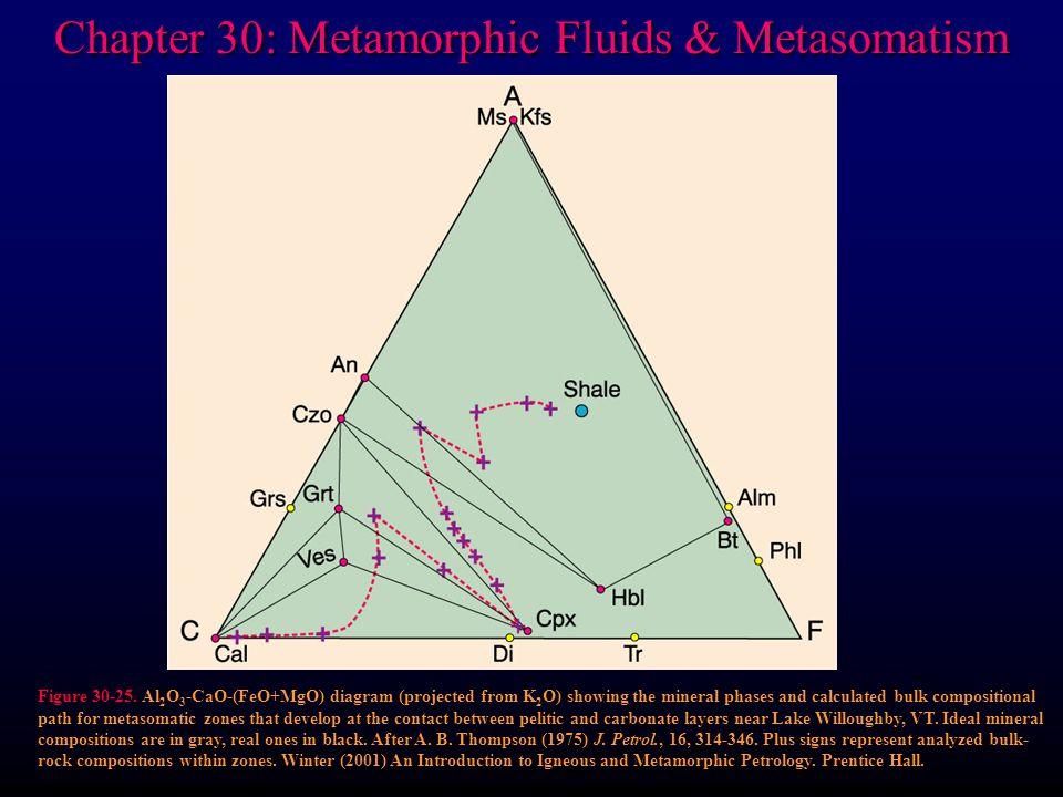 Chapter 30: Metamorphic Fluids & Metasomatism Figure 30-25.