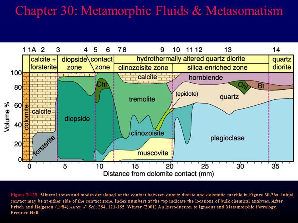 Chapter 30: Metamorphic Fluids & Metasomatism Figure 30-28.