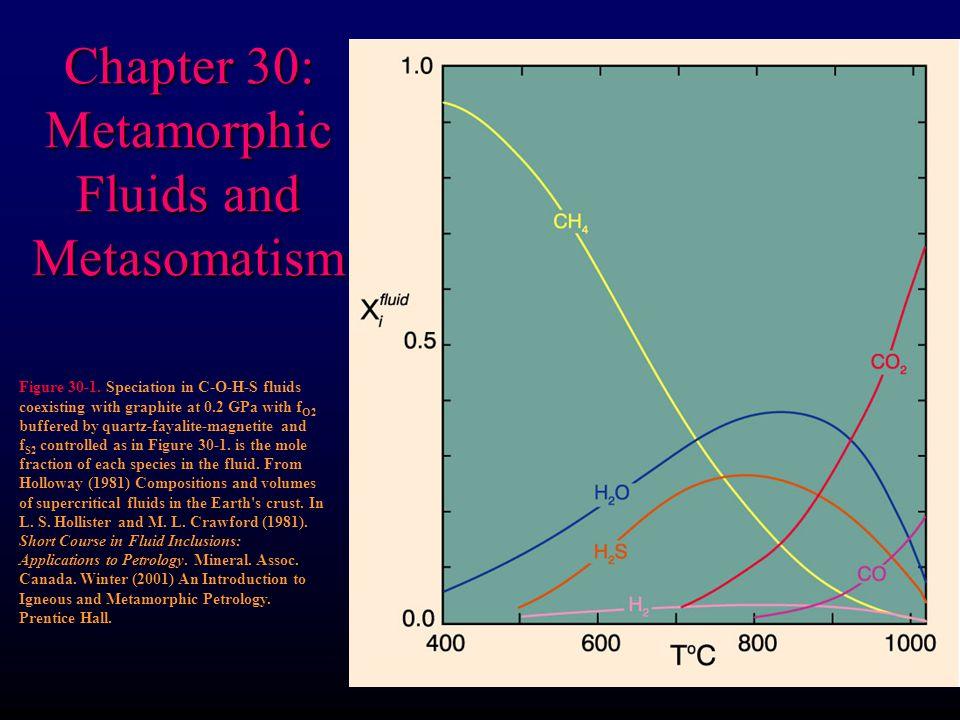Chapter 30: Metamorphic Fluids and Metasomatism Figure 30-1.