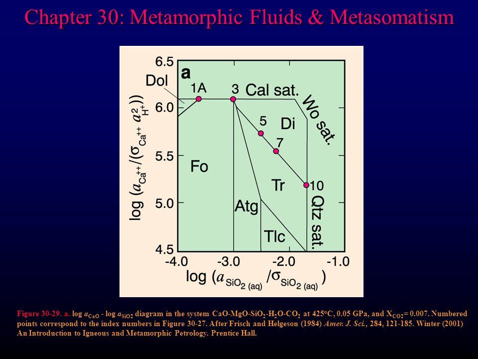 Chapter 30: Metamorphic Fluids & Metasomatism Figure 30-29.