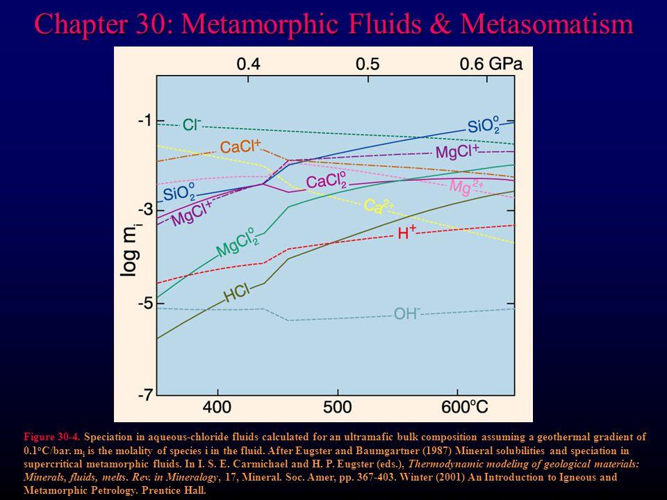 Chapter 30: Metamorphic Fluids & Metasomatism Figure 30-4.