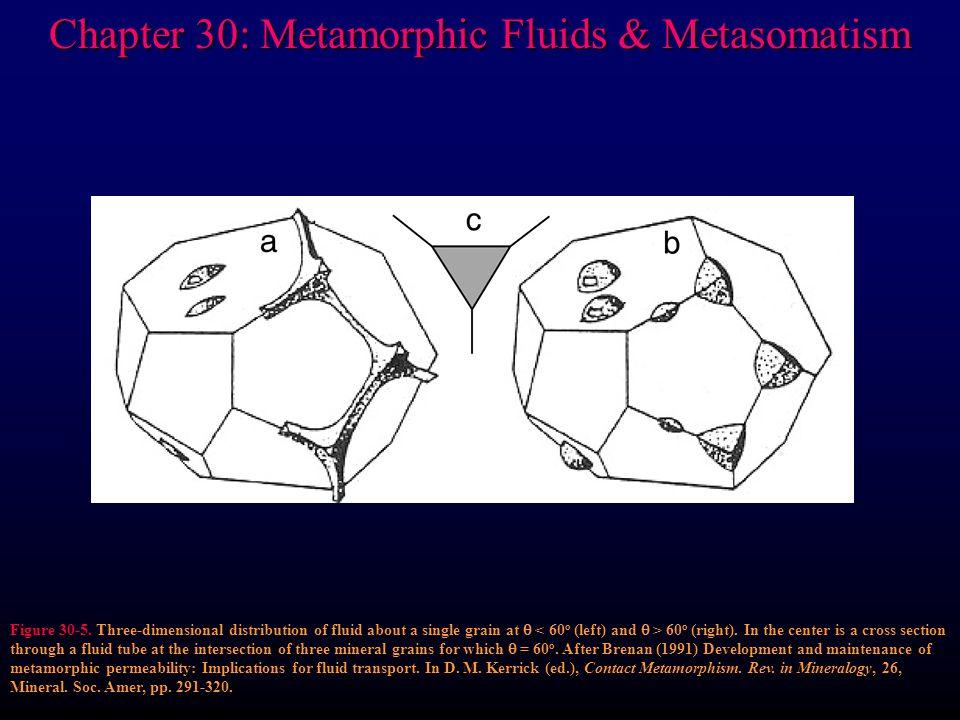 Chapter 30: Metamorphic Fluids & Metasomatism Figure 30-5.