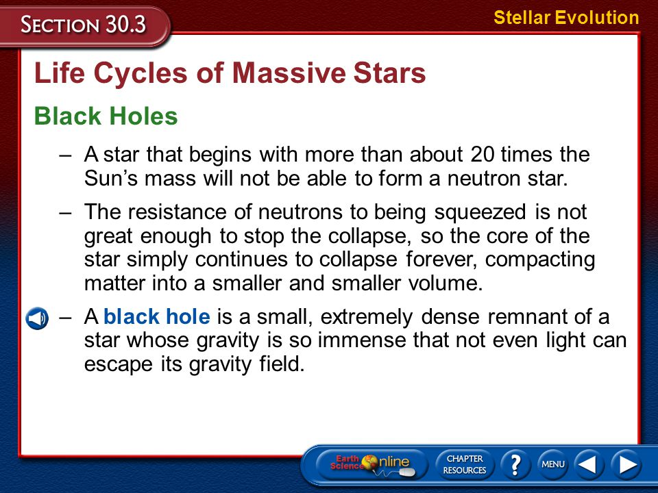 Life Cycles of Massive Stars Supernovae Stellar Evolution