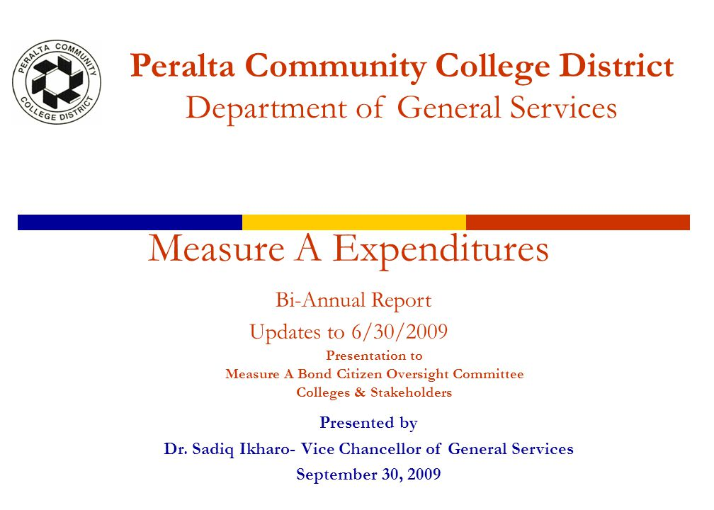2 INTRODUCTION  The Measure A Expenditure Report is a bi-annual financial report compiled of information from Measure A Procurement Expenditures, Phase I & Phase II Short-Term Construction Projects & Modernization Expenditures, Capital Projects Expenditures, Consultant Expenditures and any other cost associated with Measure A Expenditures.