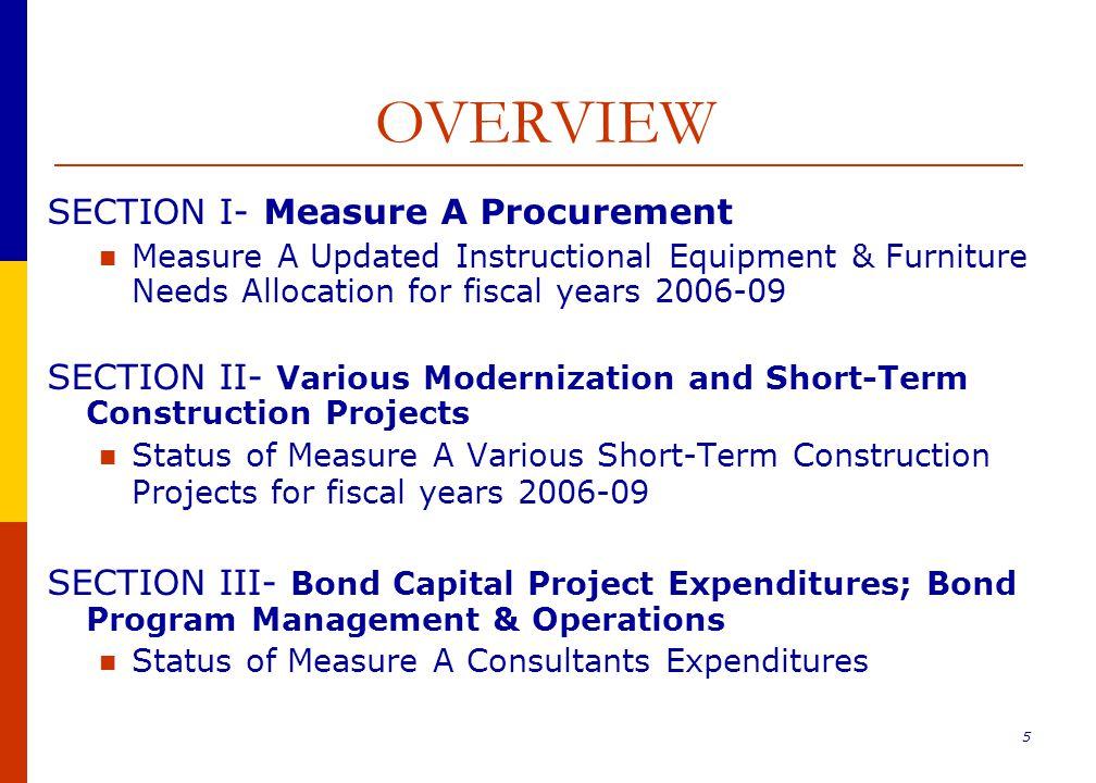 26 Bond Program Management & Operation District-Wide (2006-2009)