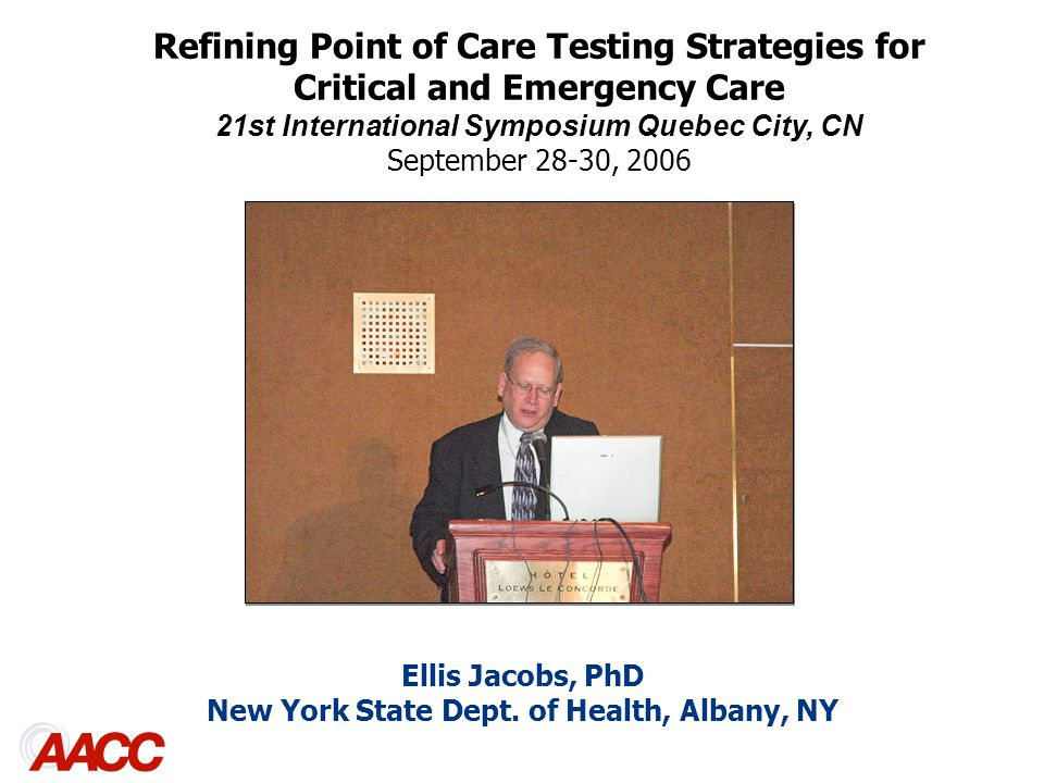Ellis Jacobs, PhD New York State Dept.