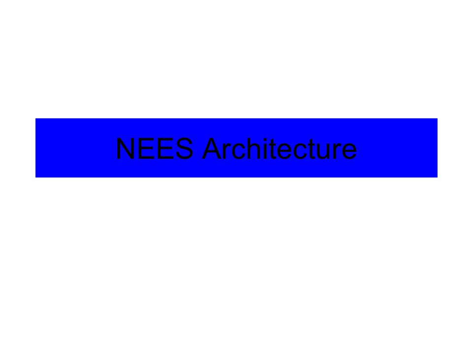 NEES Architecture