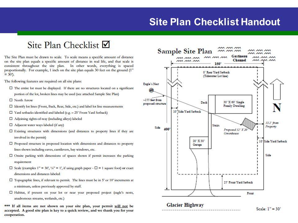 Site Plan Checklist Handout