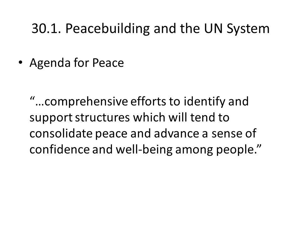 30.2.Peacebuilding and UN Reform The Peacebuilding Commission (Dec.