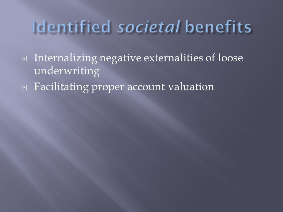  Facilitating proper account valuation