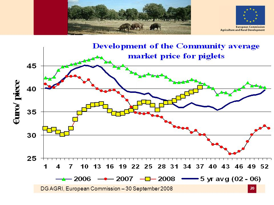 DG AGRI, European Commission – 30 September 2008 20