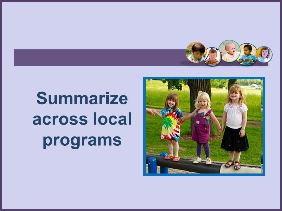 Summarize across local programs