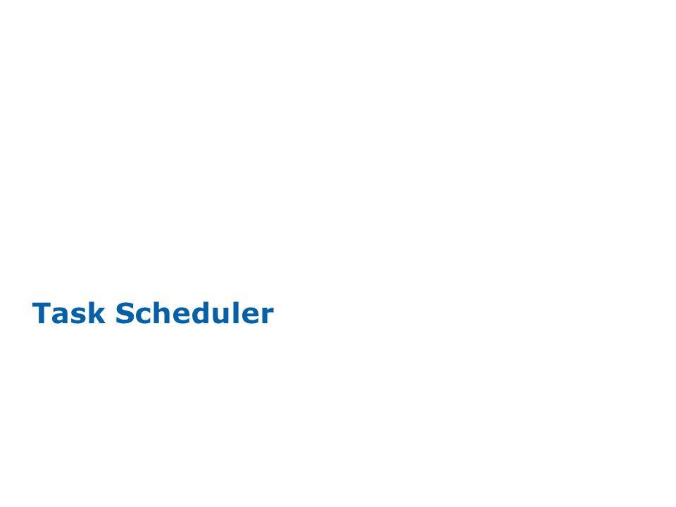 INTEL CONFIDENTIAL Task Scheduler