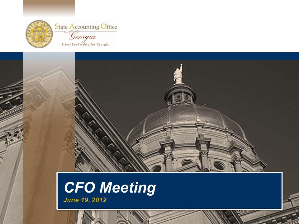 CFO Meeting June 19, 2012 CFO Meeting June 19, 2012