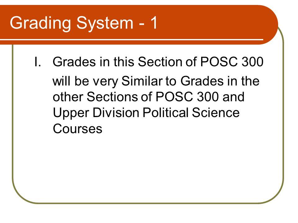 Grading System - 2 II.