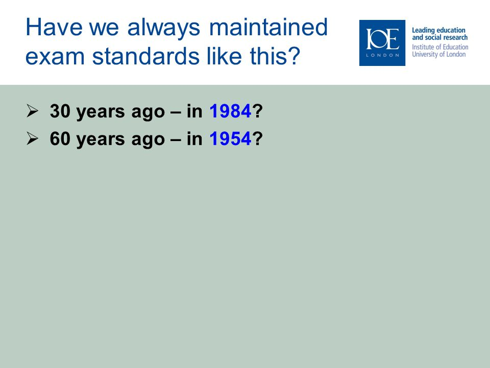 What Does 30 Years of Research Tell Us About the Best and Worst Way to Maintain Exam Standards?