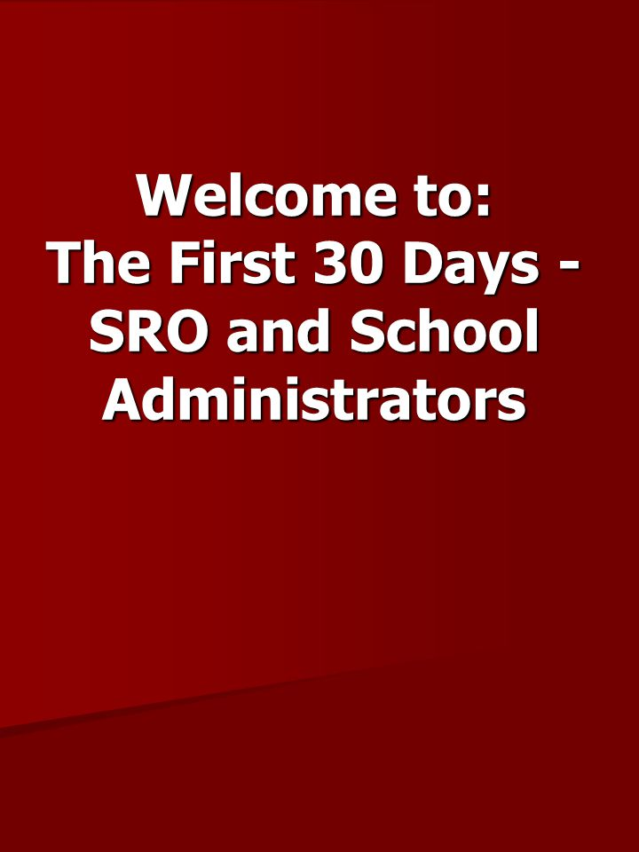 The First 30 Days of the School Year 1.Review the agency/school district agreement.