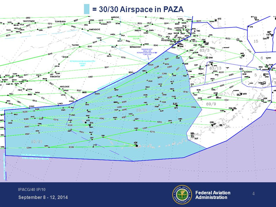 Federal Aviation Administration 4 IPACG/40 IP/10 September 8 - 12, 2014 = 30/30 Airspace in PAZA